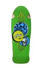 Alva Skates Bill Danforth CIRCLE OF SKULLS Skateboard Deck GREEN