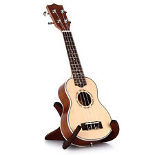 21 Inch Soprano Ukulele Uke Spruce Sapele Four Strings Wood Musical Instrument
