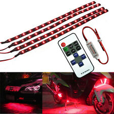 """Wireless Remote Control Car Vehicle 12"""" 30CM Red 15LED Light Strip Kit For Audi"""