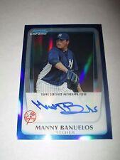 MANNY BANUELOS 2011 Bowman Chrome BLUE REFRACTOR Autograph #108/150 AUTO Braves