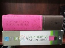 ** NIV Study Bible -Chocolate / Orchid Leathersoft ** Zondervan 2015 (NEW)  373