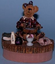 """Boyds Bears Candle Topper """"Nellie"""" Homemade Goodies NEW 651201 making ice cream"""