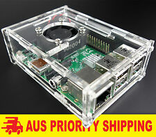 Raspberry Pi 3 2 Plus B+ Case / Box / Enclosure Combo + ACTIVE FAN COOLING