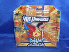 DC Universe Action League Superman & Wonder Woman Action Fig Sealed Mattel 2011