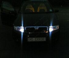 2x T10 9 LED SIDELIGHTS WHITE CANBUS FREE ERROR SKODA FABIA II 6Y2 6Y3 6Y5 99-11