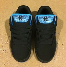 Etnies Fader Womans Size 5 Black Turquoise Skate BMX Shoes