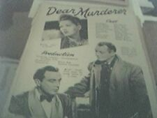 newspaper article 1947 - take my life production 2 page