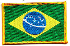 BRAZIL FLAG w/GOLD BORDER/Flag of BrasiL/Iron On Patch/World Cup Soccer, Teams