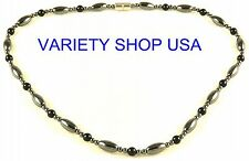 "Black Magnetic Hematite 19"" Strand Necklace HN23B"
