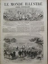 LE MONDE ILLUSTRE 1865 N 413 EXECUTION A YOKOHAMA D'UN DES ASSASSINS DES ANGLAIS