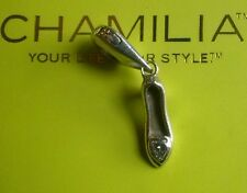 Genuine Chamilia silver cham 925 Cinderella slipper shoe dangle bracelet charm