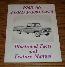 1965 1966 Ford Truck F-100 F-250 Illustrated Facts Feature Manual 65 66