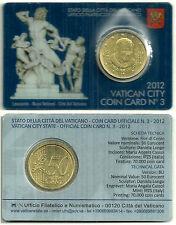 COIN CARD VATICANO 50 CÉNTIMOS 2012