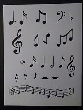 """Music Musical Notes 8.5"""" x 11"""" Stencil FREE SHIPPING"""