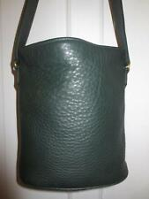 RARE! COACH Vintage DEEP PINE GREEN Pebbled LEATHER PURSE Hand  BUCKET Bag ITALY