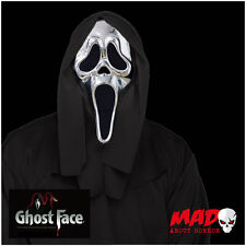 Official SCREAM 25th Anniversary Silver Mask Halloween Horror Ghost Face