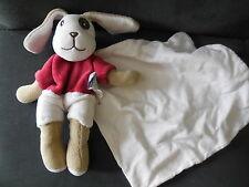 doudou plat chien Cajou rouge bordeaux mouchoir blanc SUCRE D'ORGE