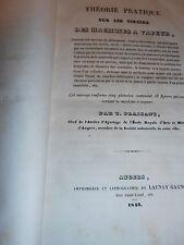 THEORIE PRATIQUE SUR LES TIROIRS DES MACHINES A VAPEUR 1843  ( ref 33 )