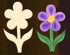 """Flower Shape 3"""" Natural Craft Wood Cutout #458-3"""