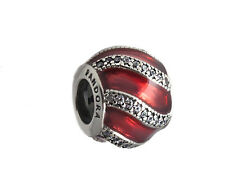 Genuine Pandora Silver Red Adornment Charm 791991EN07 with Pandora Gift Box