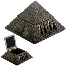 Egyptian Bronze Color Great Pyramid Jewelry Trinket Box. Ancient Egypt King Tomb