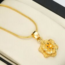 """Charms Lovely Gift 18k Yellow Gold Filled Womens Flower Pendant Necklace 18""""Link"""