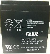 ADT 804302 Casil/Neptune 1240 ADT First Alert 12VDC 4AH Alarm System Battery