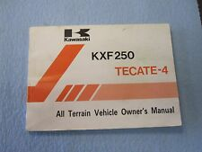 KAWASAKI TECATE 4 KXF250 88 owners manual
