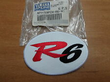 NOS OEM Yamaha White Leather R6 Patch APP-99PCH-R6-WT