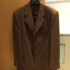 Mens 100% Cashmere Blazer from Nino Danieli, Brown, Size 50