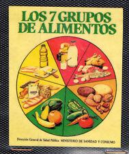 Pegatina Los 7 Grupos de Alimentos Ministerio de Sanidad (CU-501)
