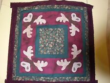 """Appliqued and Sewn Quilt Top From The Wooden Bear """"Woodland Moose"""" Lodge Cabin"""