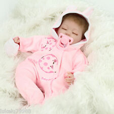 Handmade Lifelike Baby Girl Doll Soft Vinyl Reborn Newborn Dolls With Clothes