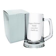 Personalised Pint Tankard with Presentation Box- Engraved Free - Fathers Day/Him