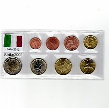 Euro ITALIA 2012 - 8 PZ FDC in Blister -