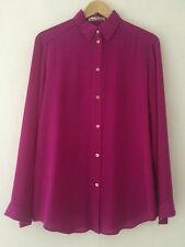 ACNE STUDIOS FUCHSIA SILK SHIRT NEW SIZE 36 / UK 8