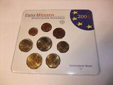 Euro Münzen Kursmünzensatz KMS Deutschland Hamburg J Stempelglanz stgl. 2004