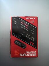 SONY WM-F202 Cassette Player Walkman, Red! From personal collection
