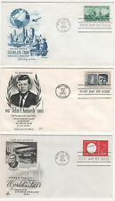 US FDC 1964 Year Set 18 First Day Covers All Cacheted All Unaddressed |