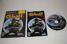 Shinobi Sony Playstation 2 PS2 Game Complete