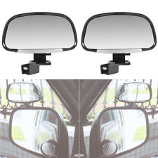 Auto Exterior RearView Mirror Car Blind Spot Side View Mirrors Black Universal