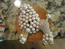 "JC Table Counter Bar Top Bag Purse Hook Hanger ""Pearl Poodle"", COA"