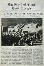 1-1937 JANUARY 24  CIVILIANS IN WAR - INVASION REFUGEES EBY Times Book Review