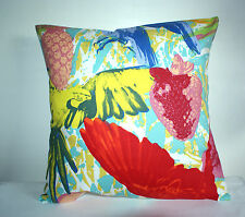 """BRAND NEW  BIG BRIGHT YELLOW PARROT CUSHION COVER 16""""x16"""""""