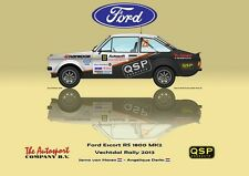 Greetings card QSP Ford Escort RS 1800 MK2 #22 van Haren Derks Version 4