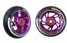 100mm Alloy Core Pro Stunt Scooter Wheel Purple Blue Green Red Silver Black PU