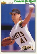 486 ZANE SMITH PITTSBURGH PIRATES BASEBALL CARD UPPER DECK 1992