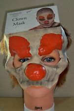 ADULT EVIL PSYCHOTIC CRAZY DEMENTED CLOWN 1/2 LATEX FACE MASK COSTUME UR28483