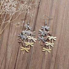 Dragonfly earrings rose gold, gold & silver tone dangle drop jewellery Gorgeous