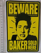 *** Baker - Vintage - Skateboard Sticker -  Beware Baker sold here - Dealer  ***